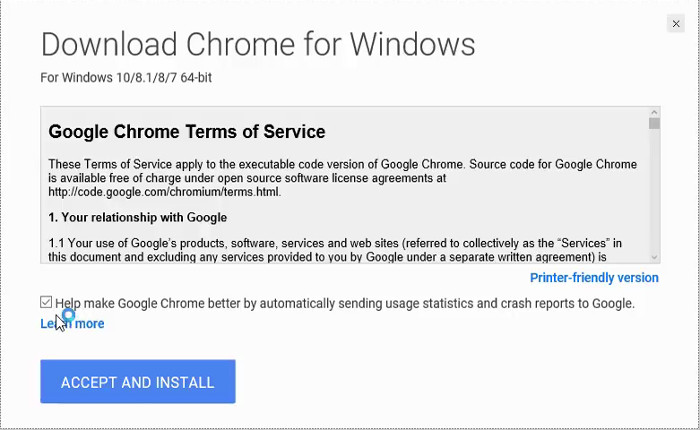 chrome 64 bit for windows 10